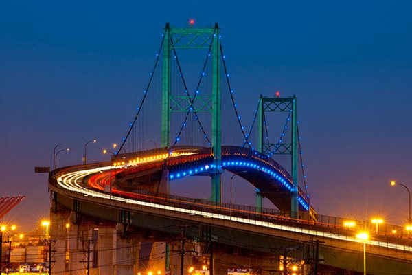 Vincent Thomas Bridge Lighting