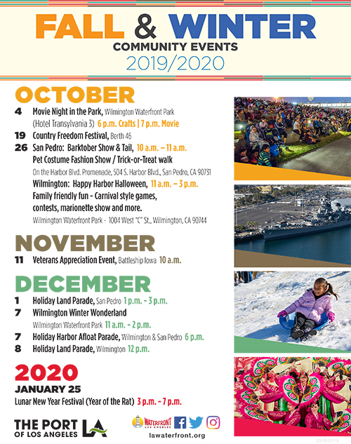 Fall & Winter Events on the LA Waterfront