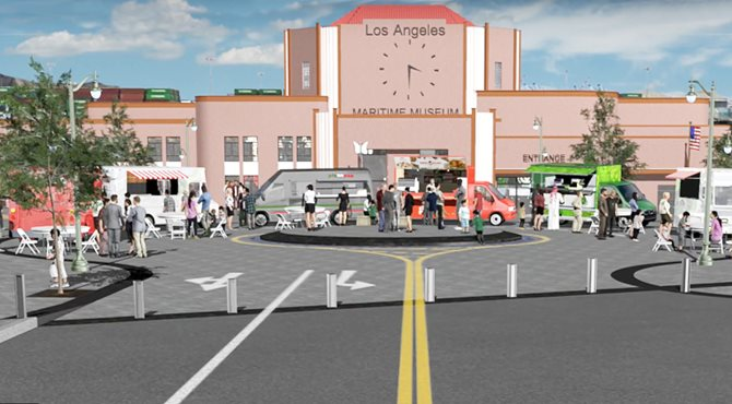 LA Waterfront Plaza and Promenade project rendering