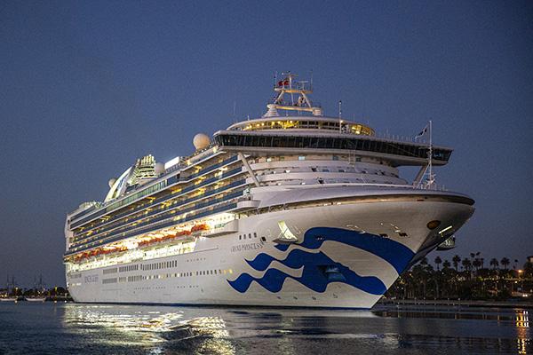 Princess Cruises ship underway